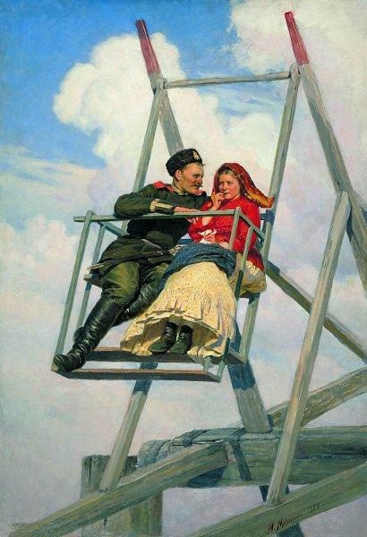 1888   Николай Ярошенко На качелях 1888 г.h.JPG