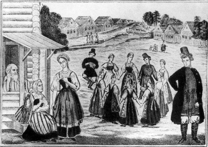1857 'Не брани меня, родная'. Литография А. В. Морозова (перевод с гравюры на меди). 1857).jpg
