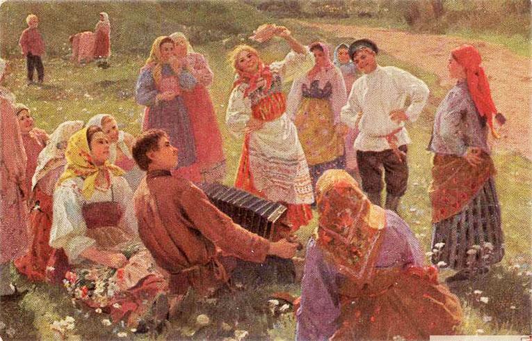 1917 before   Ф. В. Сычков. Танец. Дореволюционная открытка..jpg