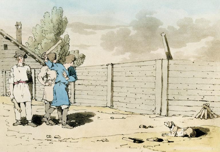 Художник Д.-А. Аткинсон. Городки. Atkinson J. A., Walker J.n, 1803–1804. Vol. 2...jpg