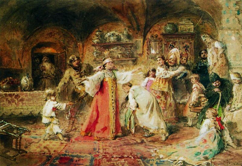 Маковский Константин Егорович Игра в жмурки 1890-е гг. .jpg