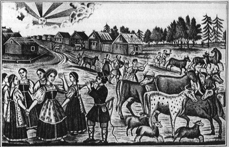 «Хорошо пастух играет». Лубок. 1871  144.jpg