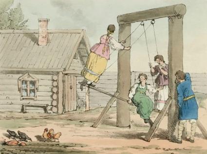 Аткинсон Джон Огастес. Качели 1803–1804 гг..PNG