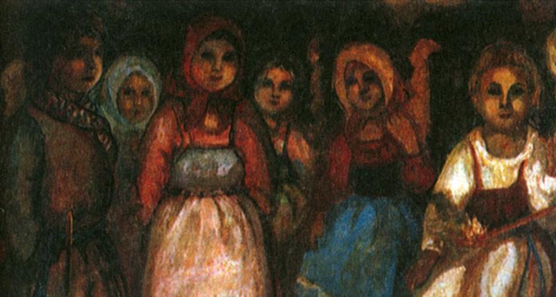 Е. В. Честняков. На посиделках. 1920-е154.jpg