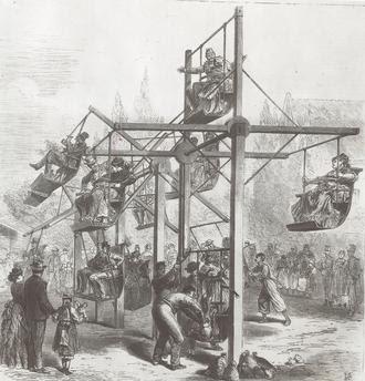 Русские качели. Гравюра по рисунку Leo von Elliot. Из журнала Illustrirte Zeitung , Том 60, Nr. 1559, Leipzig, 17. Мая, 1873 года.73.jpg