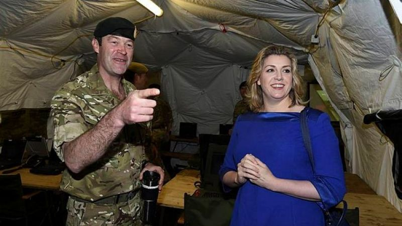 Major General Patrick Sanders & Penny Mordaunt, 2015.jpg