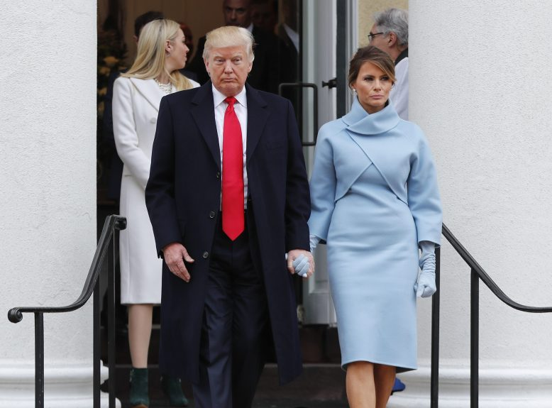 5 Melania Trump elects to wear sky-blue cashmere Ralph Lauren ensemble .jpg