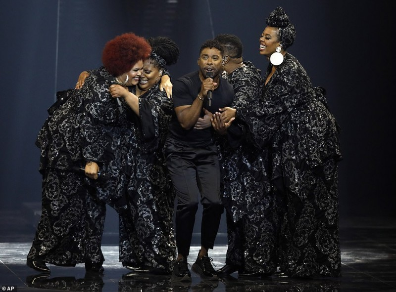 1   John Lundvik of Sweden performs the song 'Too Late For Love' during the 2019 Eurovision Song Contest grand final in Tel Aviv, Israel.jpg