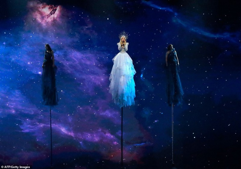 4  Australia's Kate Miller-Heidke performs the song 'Zero Gravity' during the Grand Final of the 64th edition of the Eurovision Song Contest 2019 at …