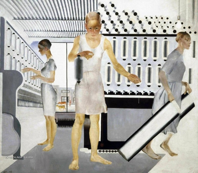 1927 Дейнека Александр Александрович (1899-1969) «Текстильщицы» 1927 Музей на крейсере Аврора.jpg