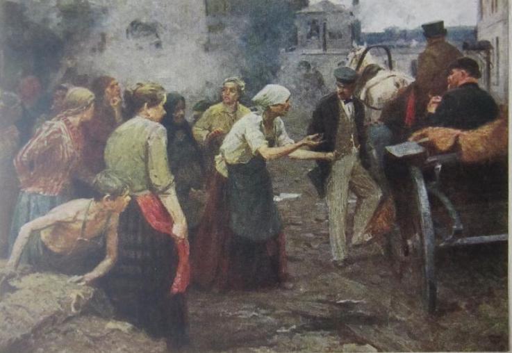 1956 открытка Худ. В. Родионов -Ивановские ткачихи в 1905 году 1956г..PNG