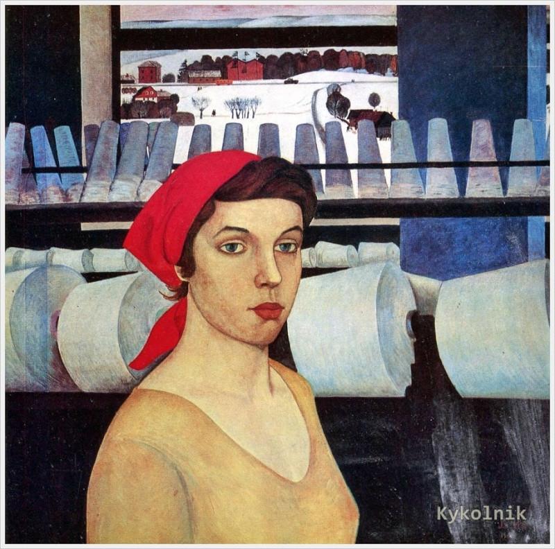 19  1965  Ни Виктор Трофимович (1934-1979) «Портрет прядильщицы Н.Новиковой» 1965.jpg