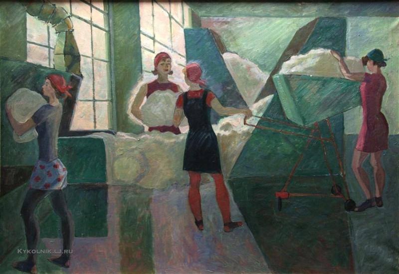 30  1978  Куранская Ольга Степановна (Россия, 1925) «Трехгорка. Цех» 1978.jpg