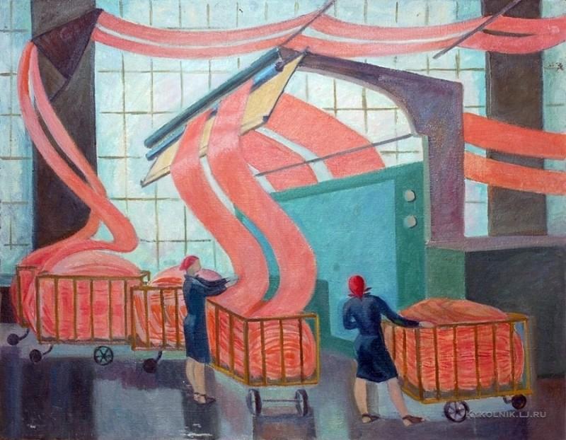 31  1979 Куранская Ольга Степановна (Россия, 1925) «Трехгорка. Цех» 1979.jpg