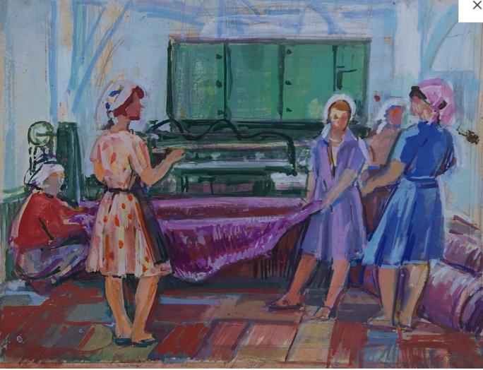 38  1970-е Художник Усикова Е.Г. 1913 Ткачихи .PNG