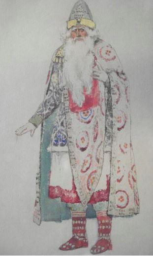 1865  Васнецов Виктор Михайлович Эскиз костюма. Берендей. .JPG