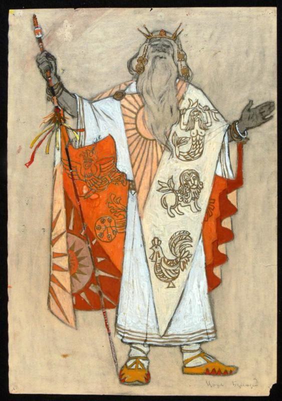 1961 Епишин Геннадий Иванович Царь Берендей. Эскиз костюма  d.jpg