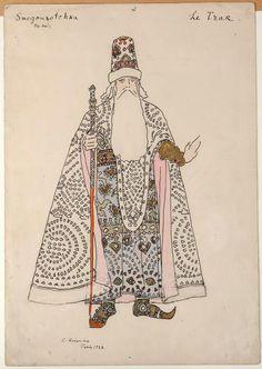 1928   Коровин Константин Алексеевич Эскиз костюма Царя7.jpg