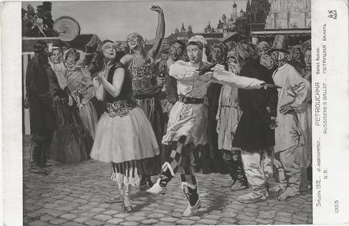 1911 Т.Карсавина и В. Нижинский. Сцена из балета «Петрушка» PetrushkaKar&Nij.jpeg