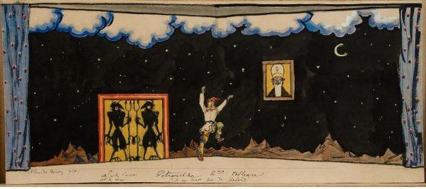 1918 Бенуа Александр Николаевич Эскиз декорации к балету .JPG