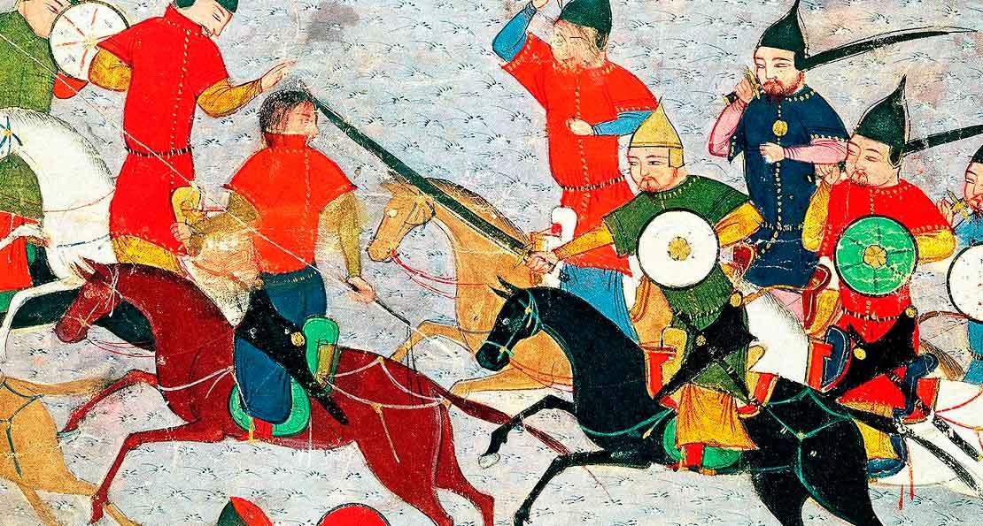 Монголы Чингисхана на персидской миниатюре  E.jpg