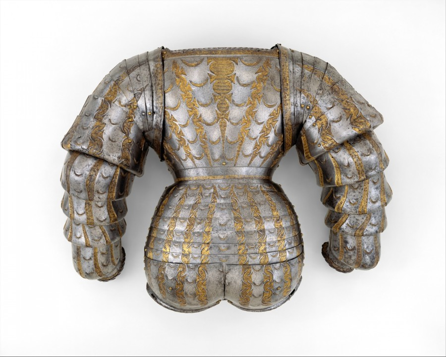 3  Portions of a Costume Armor Armorer Kolman Helmschmid (German, Augsburg Date ca. 1525 Geography Augsburg Culture German, Augsburg Medium Steel, go…
