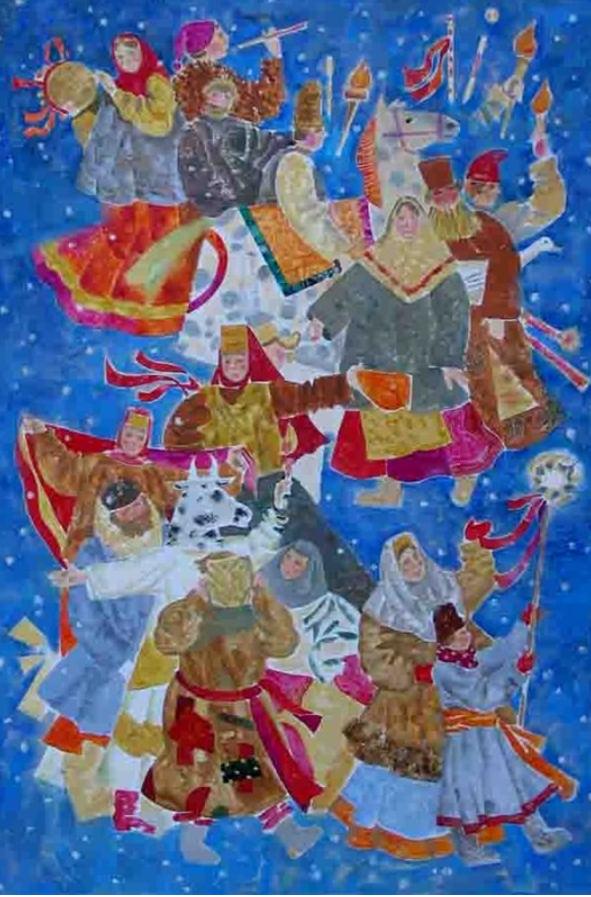 2  2004  Неринга Моргунова Рождественское шествие. 2004 г.PNG