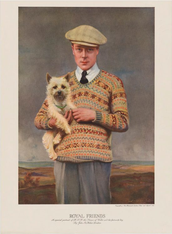 _Prince Edward, Duke of Windsor (King Edward VIII) published by Illustrated London News, after John St Helier Lander colour photogravure, published 2…