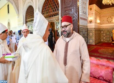 _HM King Mohammed VI, Commander of the Faithful, accompanied by HRH Crown Prince Moulay El Hassan.jpg