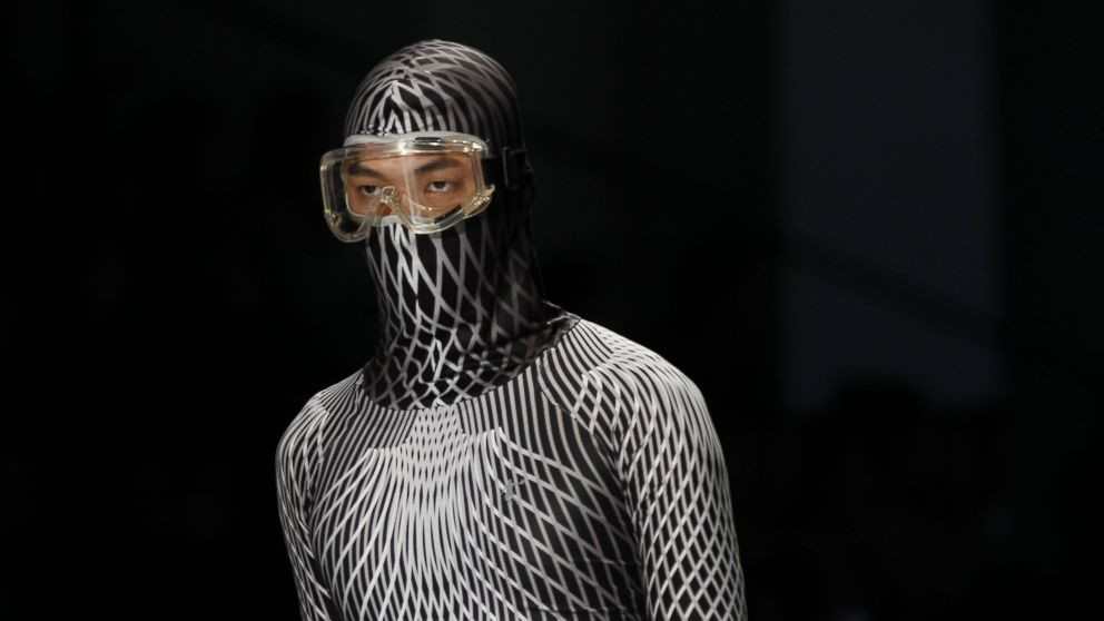 _A facial mask appears at the China international fashion week, Oct. 28, 2014, in Beijing.jpg