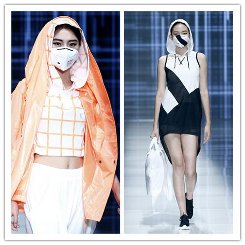 _China Fashion Week presents creation featuring facial mask.jpg