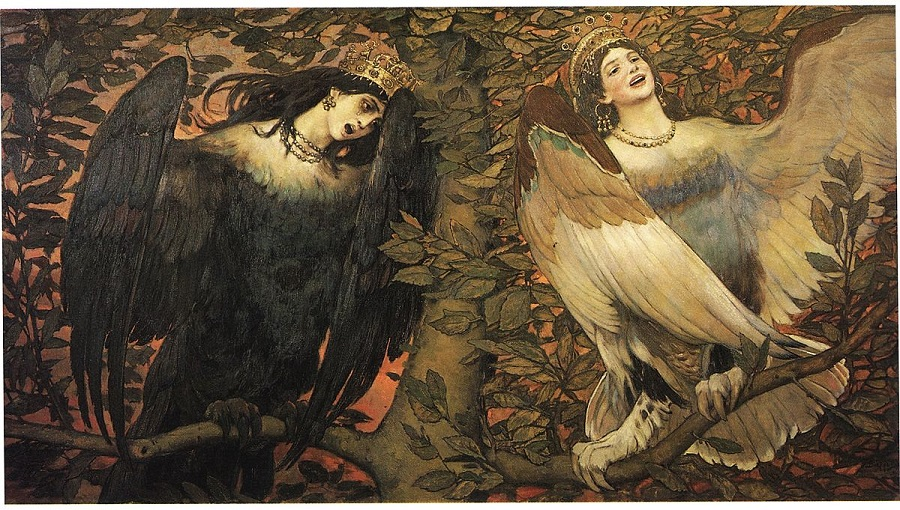 Виктор Михайлович Васнецов Сирин и Алконост. Птицы радости и печали. 1896.jpg