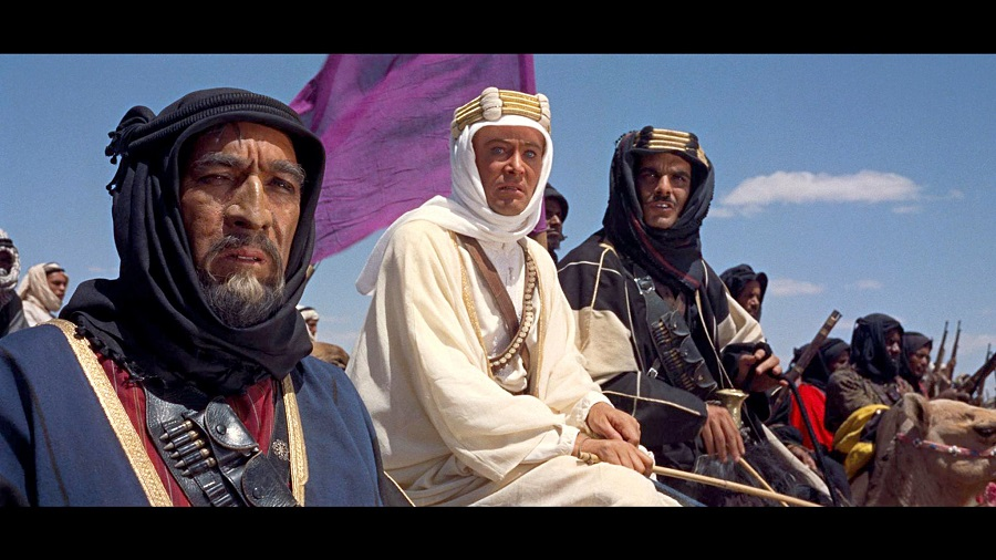 "1962  Anthony Quinn, Peter O'Toole and Omar Sharif in ""Lawrence of Arabia,"" which has undergone a 50th-anniversary digital restoration.Credit...Colum…"