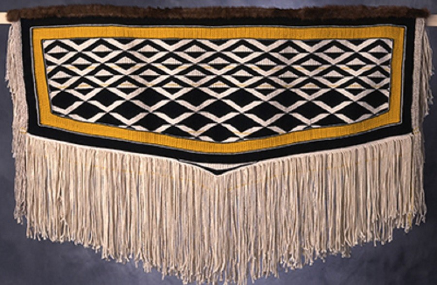 Clarissa Rizals' heirs registered the design for this robe with the U.S. Copyright Office in 2019 and exclusively licensed it to Sealaska Heritage In…