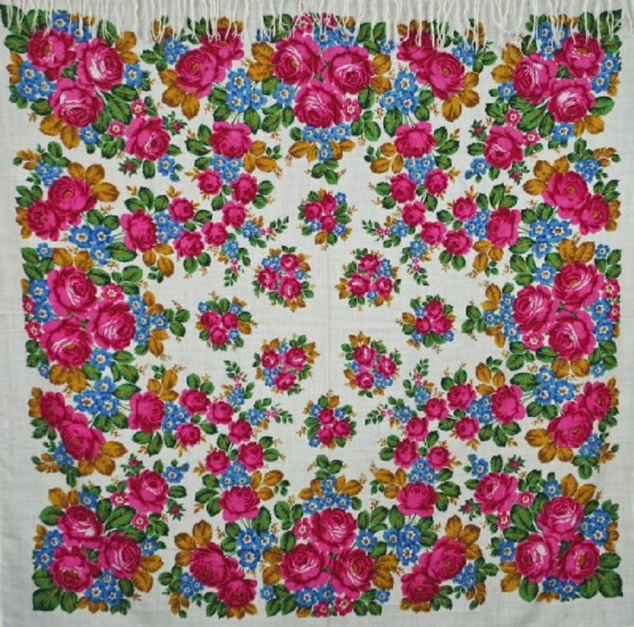Любовь и голуб Шаль из уплотненной шерстяной ткани 150х150 Дуновение осени художник Н. Слащева.jpg
