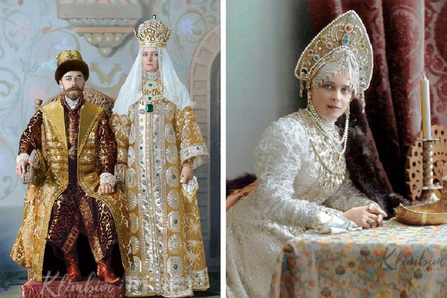 1 Николай II и Александра Федоровна (слева)  Княгиня Зинаида Николаевна Юсупова (справа).jpg