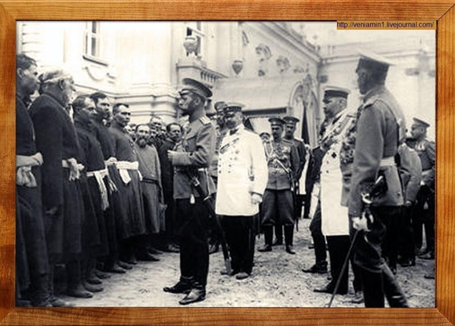 9  Император Всероссийский Николай II встречается с черносотенцами. 1907 год.jpg