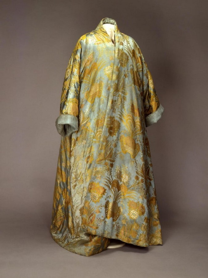 "4  ""Gown of Peter I"" From the Private Wardrobe of Peter the Great, Imperial Russia, 1710-1720s, satin and silk.jpg"