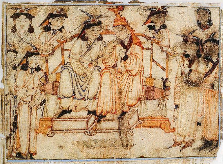 1  Хан и хатунь. Миниатюра первой трети XIV в..jpg