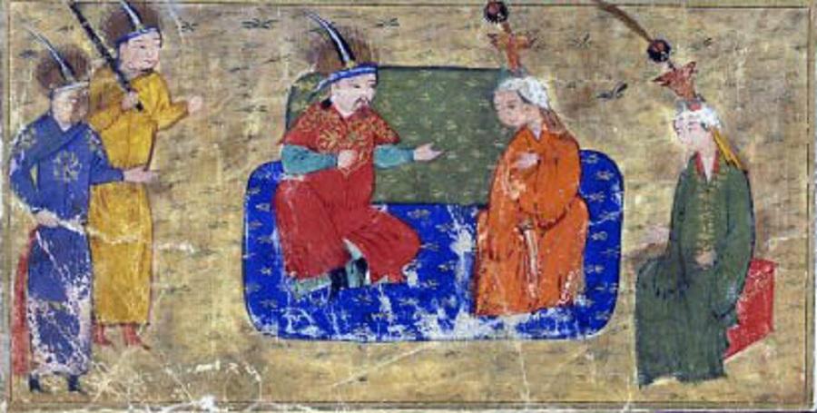 1 Толуй и его семья. Миниатюра из Джами ат-таварих. Рукопись XV века..jpg