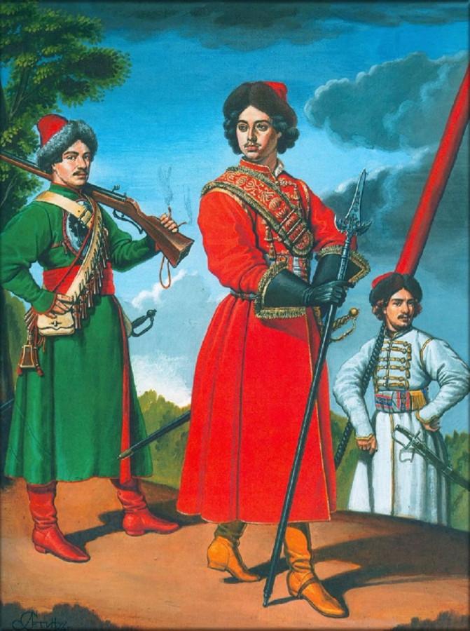 6 Группа чинов 3–го Выборного солдатского полка, 1696–1698 гг..jpg