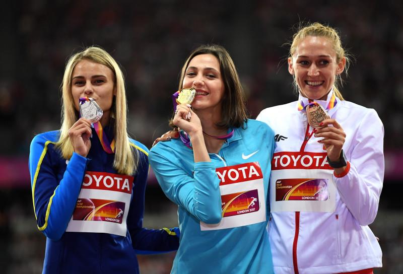 Что за вброс про олимпийскую форму? 1 Maria Lasitskene with medal London 2017.jpg