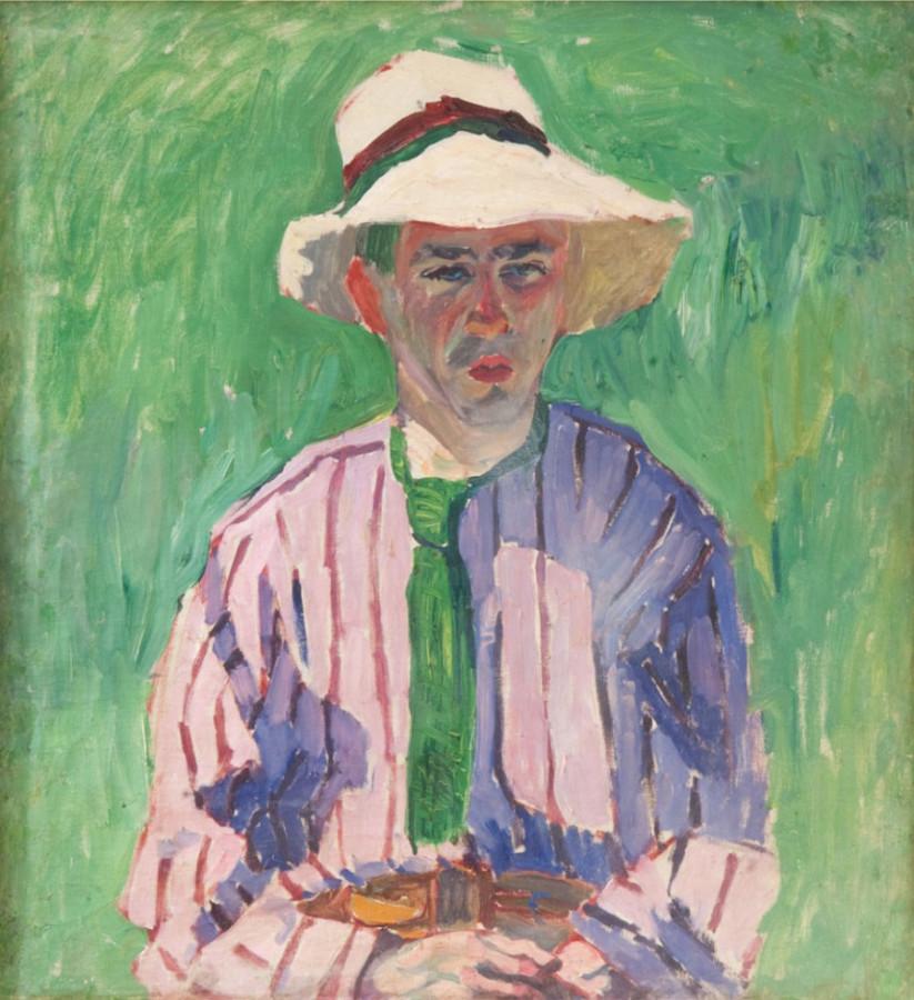 А.В. Лентулов. Портрет молодого человека в панаме. 1910 г..jpg