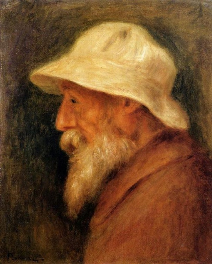1910 Пьер Огюст Ренуар Автопортрет в белой панаме 1910 г. Частная коллекция.jpg