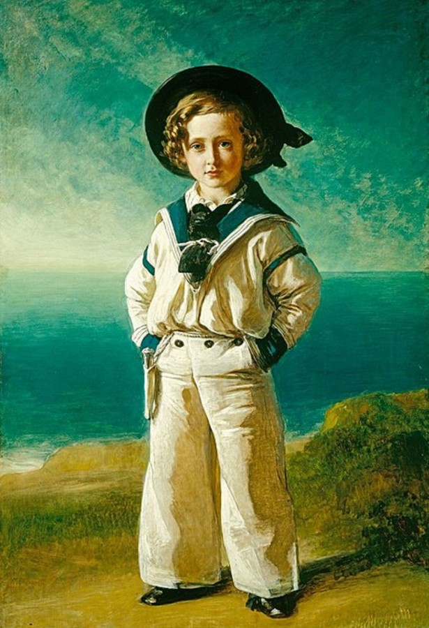 2 Prince Albert Edward (the future Edward VII of the United Kingdom) in a sailor suit, by Franz Xaver Winterhalter, 1846.jpg