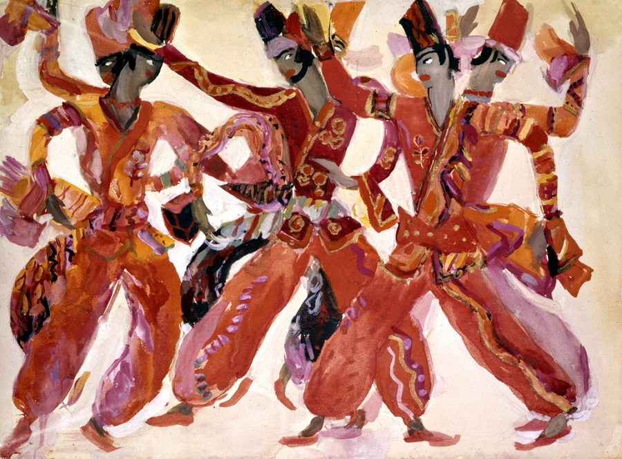 4 Эскизы костюмов к балету 'Шехеразада'. Худ. С. Вирсаладзе.jpg