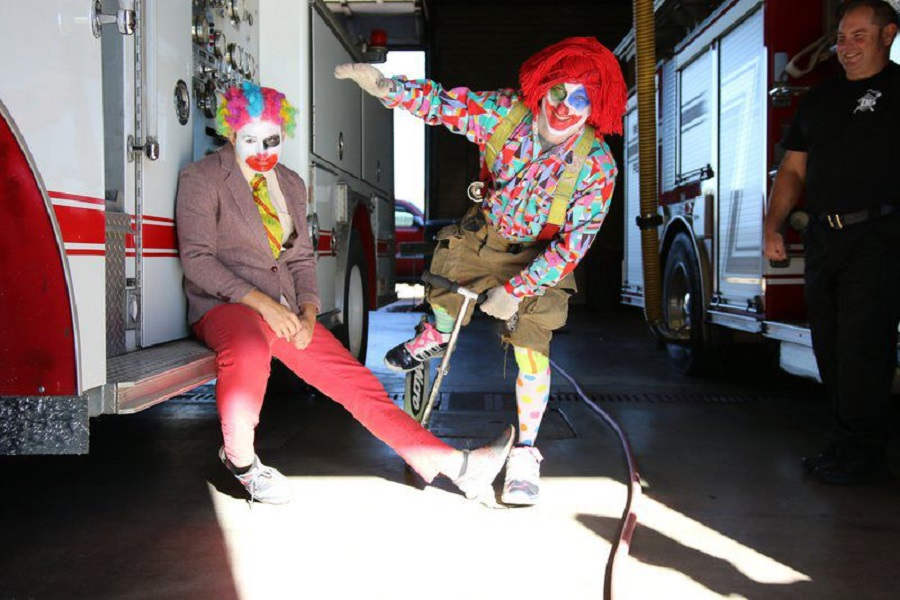 Muskogee's firefighters are going to clown around about fire safety throughout next week 2016.jpg