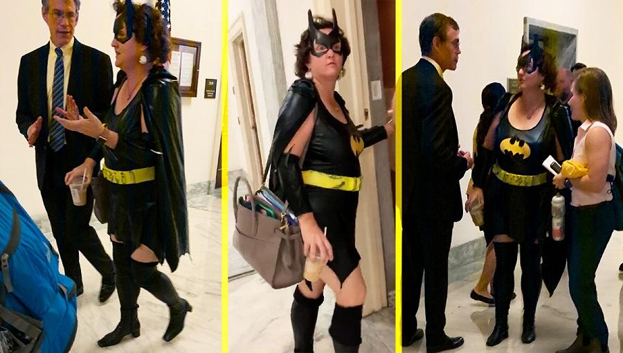 Rep. Katie Porter walking around the hall of Congress on October 31, 2019 Democrat.jpg