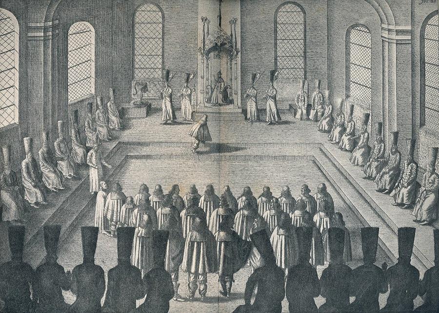 1638 Публичная аудиенция посольства Адам Олеарий.jpg