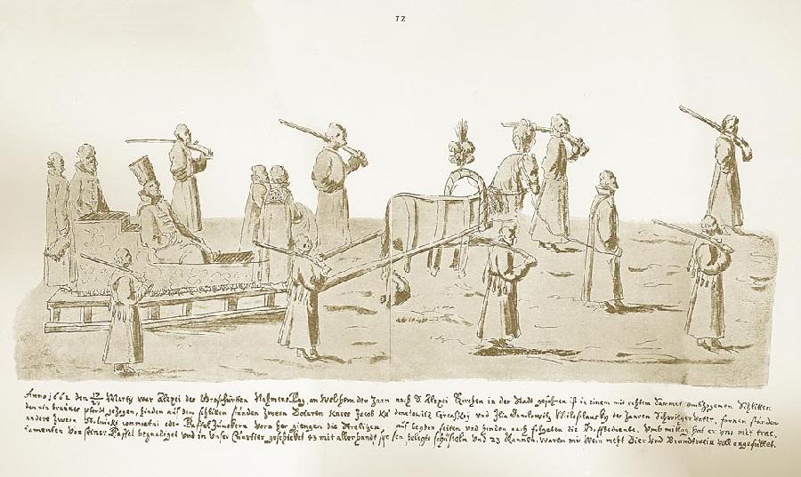 1661 Выездъ царя въ саняхъ Альбомъ Мейерберга 1661-62..jpg